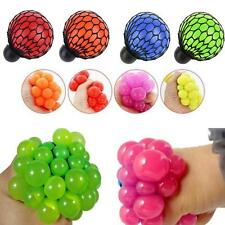 Squishy Mesh Ball Squeeze Stressball Yuch Color Party Bag Fun Gift Boy Fast Ship