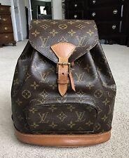 Authentic Louis Vuitton Monogram Montsouris MM Backpack Bag SP1001 France EUC