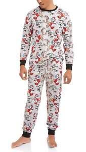 Nickelodeon Mens Ren & Stimpy pajama pants shirt lounge set Happy Joy Jogger L