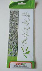 Tonic Studios - Exotic Lily Double Detail Die & Stencil Set - 1139E
