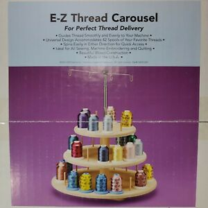 HTF E-Z Thread Wood Lazy Susan Sewing Carousel - For Perfect Delivery - NIOB