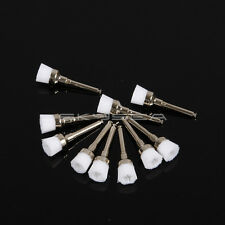 100pcs Dental Prophy Brush Polishing Brush Brushes White Nylon Pinceau à polir