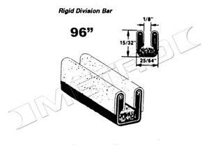 Rigid Division-Bar Channel, Fits:1947-1964 Chrysler, Desoto, Dodge and more