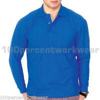 Uneek UC113 Premium Mens Work Polo Shirt Long Sleeve 50% Polyester 50% Cotton