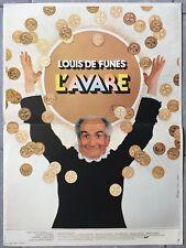 Affiche L'AVARE Jean Girault LOUIS DE FUNES Frank Cabot-David 40x60cm 1980 *