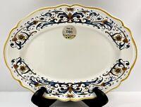 """Nova Deruta Italian Pottery """"Ricco"""" Serving Tray/Platter Made in Italy New!"""