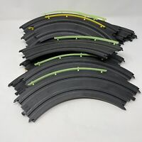 """Lot Of 12 Tyco 9"""" R 1/4 Circle Track with Rails HO Scale Slot Car"""