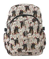 LUCKY CAT Cute Chinese Kitty Backpack Rucksack School College Gym Goth Rock Bag