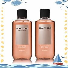 (2) Bath & Body Works TEAKWOOD Men Collection 2-in-1 Hair and Body Wash NEW