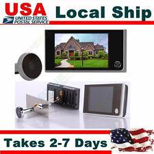 """3.5"""" Digital Door Ring Doorbell Peephole Viewer Peep Hole Cam Night Vision C06"""