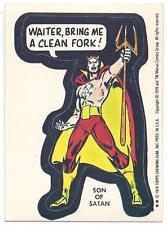 Vintage Topps 1976 Marvel Super Heroes Son of Satan Sticker Card