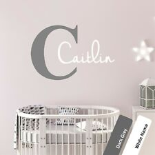 Nursery Name & Initial Wall Art Sticker Personalised Childrens Bedroom Decal