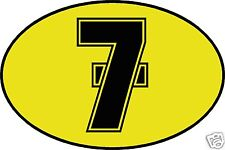 Barry Sheene Number 7 decal / sticker - LARGE 260mm