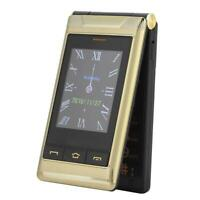 G10-C Flip Dual Screen Mobile Phone with Dual Card Slots for Elders US Plug Gold