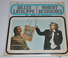 GILLES LATULIPPE, ROBERT DESROCHES LP Record Comedy Quebec