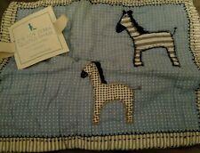 New Pottery Barn Kids Blue Z is for Zebra Small Sham decorative jungle zoo