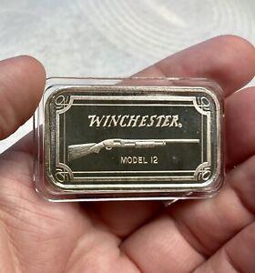 Vintage SilverTowne Winchester Model 12 1oz Fine Silver Art Bar
