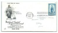 FDC 1950 3c #989 National Capital Sesquicentennial, Washington DC A1