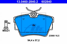 Bremsbelagsatz, Scheibenbremse für Bremsanlage Hinterachse ATE 13.0460-2840.2