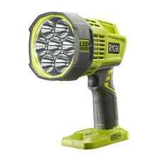 Ryobi Rechargeable LED Spotlight Torch 18V Green Grey Working Camping Compatible
