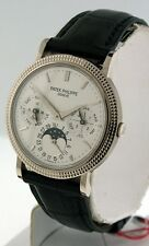 Patek Philippe Perpetual Calendar 5039G Moonphase 18k White Gold 35mm watch.