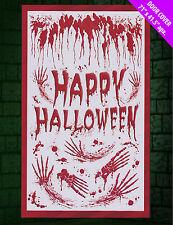 Saignant Joyeux Halloween Porte Gore Affiche Bannière Main Imprimés &