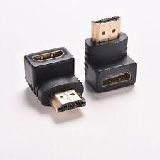 2x angolo retto HDMI Cavo Adattatore da maschio a 270 90 Connettore Donna Grado A