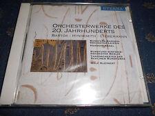 ORCHESTERWERKE DES 20. JAHRHUNDERTS Bartok-Hindemith-Liebermann Klassik CD NEU!!