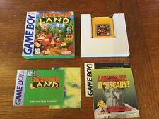 Donkey Kong Land Nintendo Gameboy CIB Complete Box Manual Very Good Beautiful!