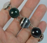 Victorian Banded Agate Panell Design Bracelet c1890