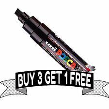 Uni Posca PC-8K Marker Pen - BLACK Broad Chisel Tip 8mm Line - Buy 4, Pay For 3