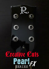 Custom R MOP Kerry King style Guitar Headstock Logo Vinyl Sticker Decal