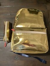 Crewcuts Backpack And Pencil Case - Gold