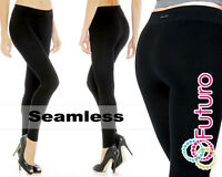 Seamless Polyamide Black Full Length Leggings Stretchy Size 8-16 PW92110