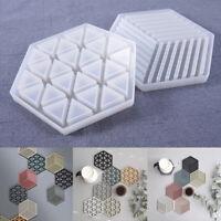 Silicone Coaster Mould Concrete Epoxy Stripe Tray Silicone Mold Home Decor