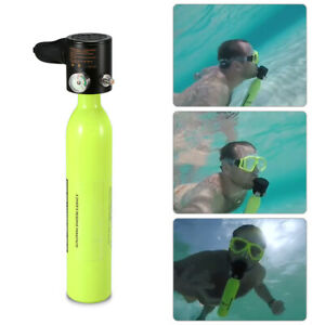SMACO Mini Scuba Diving Equipment Oxygen Cylinder Air Tank Dive Gear UK Q7D0
