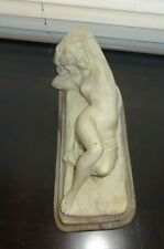 VTG Incolay Stone Handcrafted USA Lady Sculpture Figurine 1976 Signed Gravier