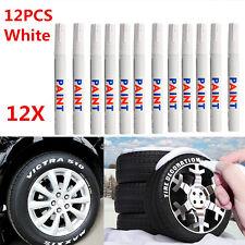 Universal 12 x White Waterproof Permanent Car Motorcycle Tyre Marker Paint Pen