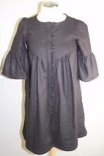 Sessun brown wool  lantern sleeves button down dress size S (dr200)