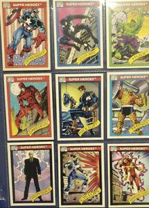 1990 Impel MARVEL UNIVERSE Series 1 Trading Cards COMPLETE BASE SET #1-162