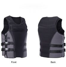 Adults Life Jacket Premium Neoprene Vest Water Ski Wakeboard PFD Grey A