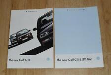 Volkswagen VW Golf Mk3 GTI & GTI 16v Brochure & Specification Guide 1992