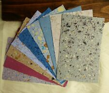 9 Sheets of Handmade Paper - Beautiful Paper - 8.5 in x 5.5 in sheets