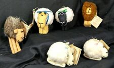 6 pcs Vintage Soft Animal Creatures Ornament USA By J Miller Clark Chadwick 1980