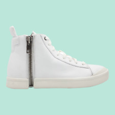DIESEL S-Nentish Mens High-Top Leather Fashion Sneaker White Size 8.5 NEW