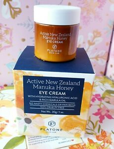 Platone Active New Zealand Manuka Honey EYE CREAM 1 oz/30 g  NEW  Free Shipping