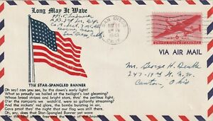 1943 USA cover sent from USMC Kearny Mead Base, San Diego to Canton,Ohio