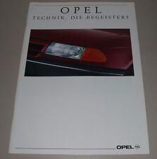 Auto Prospekt Opel Corsa A Asta F GSi Vectra CD Omega A Senator B  Campo 09/1991