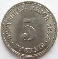 Superior! 5 Peniques 1898A En Uncirculated