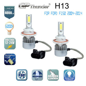 H13 9008 LED Headlight Bulb Conversion Kit for Ford F150 2004-2014 High Low Beam